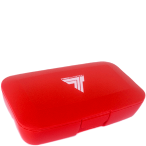 "TREC Accesorier Pill-box RED ""T"""