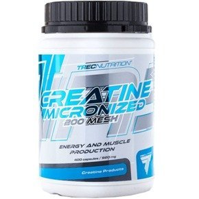 Creatine Micronized 200 Mesh 400 kaps TREC OUTLET
