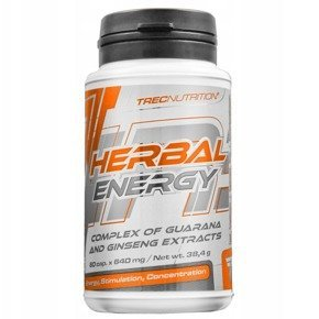 Herbal Energy 60 kaps. guarana, żeń-szeń TREC