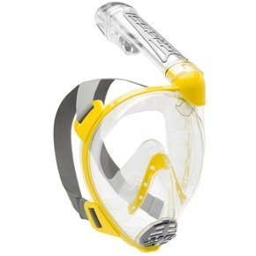 Maska pełnotwarzowa snorkeling DUKE CRESSI clear yellow