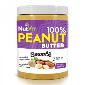 NutVit 100% PEANUT BUTTER 1000g Smooth OstroVit