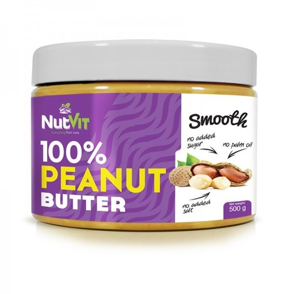NutVit 100% PEANUT BUTTER 500g Smooth OstroVit OUTLET