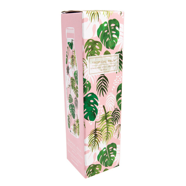 Stalowa butelka termiczna 500 ml, Tropical Palm, Rex London
